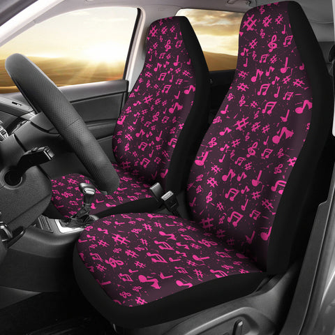 Image of Car seat covers Pink Music Notes