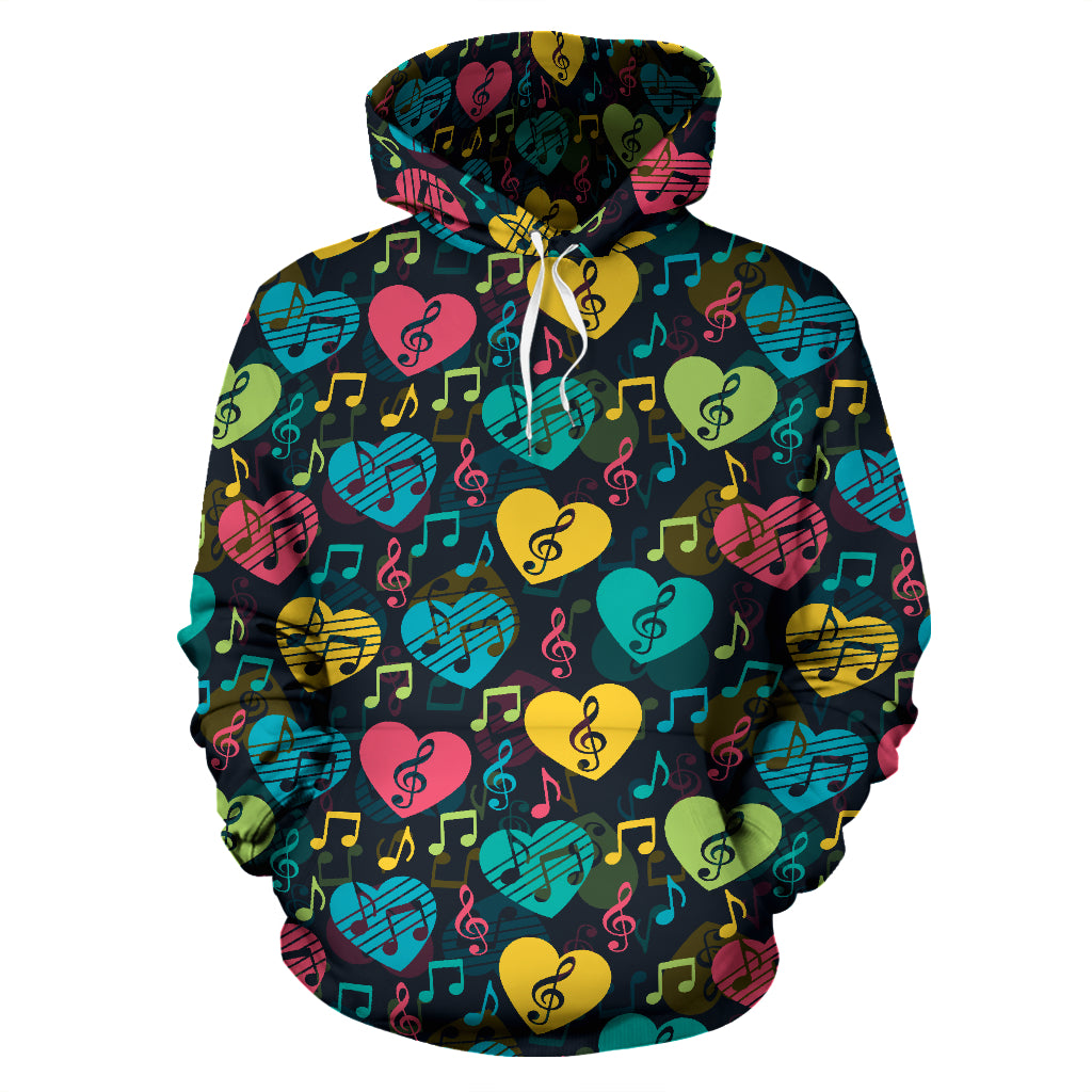 Music Notes & Hearts Hoodie