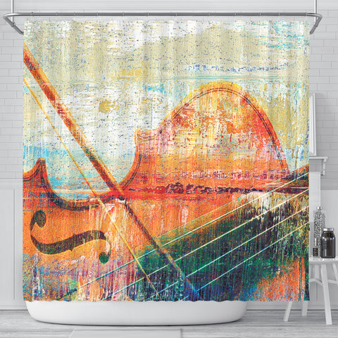 Image of Music Violin Art Shower Curtain
