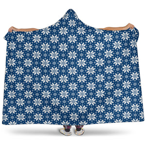 Knitting art Norwegian Style Hooded Blanket