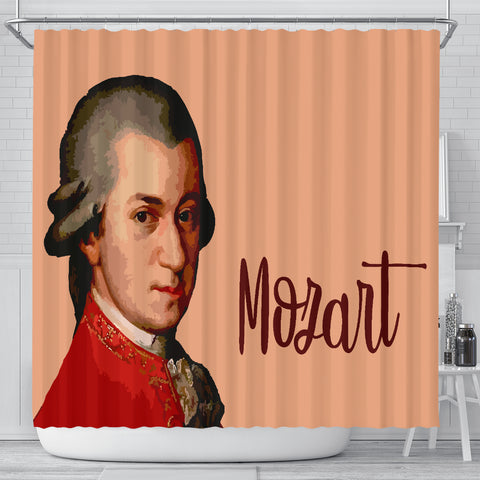 Image of Mozart Music Shower Curtain