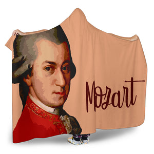 Mozart Music Hooded Blanket Cosy Style