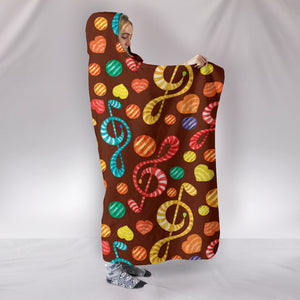 Treble Clef Candy Cosy Hooded Blanket