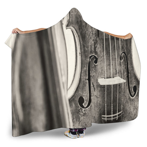 Music Violin Cosy Hooded Blanket