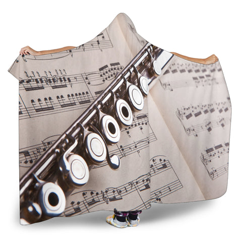Music + Flute Cosy Hooded Blanket