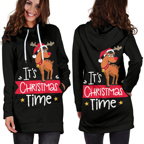 Women's Hoodie Dress - Christmas It´s Christmas Time