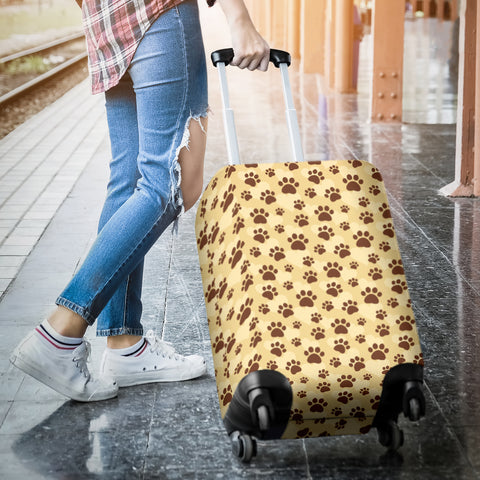 Image of Dog Paws Luggage Cover