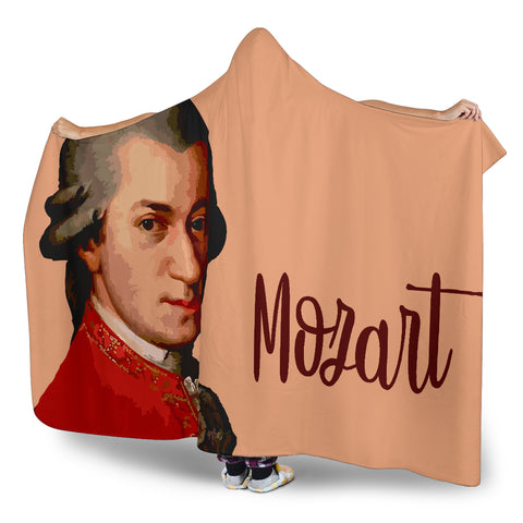 Image of Mozart Music Hooded Blanket Cosy Style