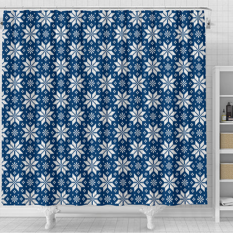 Image of Norwegian Knitting Art Design Shower Curtain