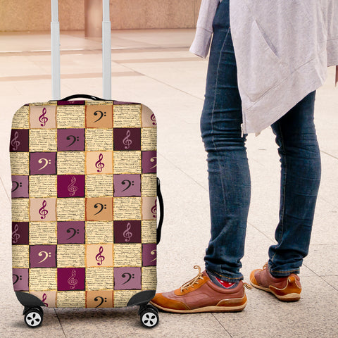Treble Clef & Bass Clef Luggage Covers