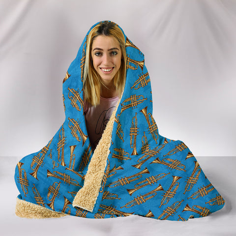 Trumpet Hooded Blanket,  Cozy Style