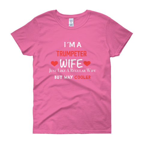 Image of I´m a Trumpeter Wife, Women's short sleeve t-shirt