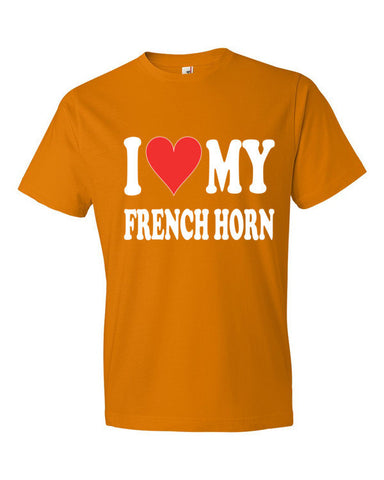 Image of I Love My French horn, men's t-shirt