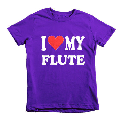 Image of I Love My Flute, Childrens  t-shirt
