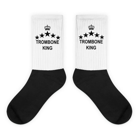Image of Trombone King, Black foot socks
