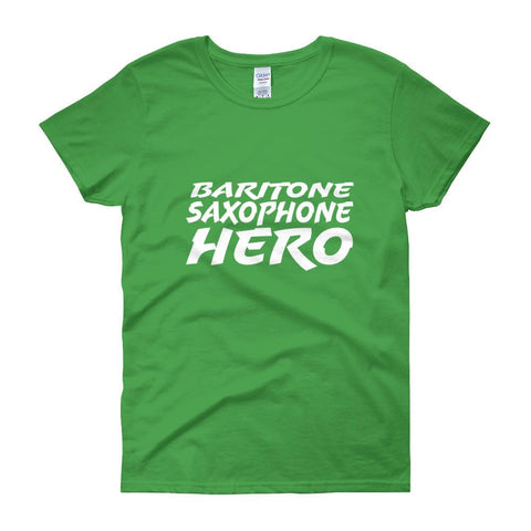 Image of Baritone Saxophone Hero, Women's short sleeve t-shirt