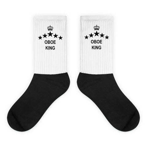 Image of Oboe King, Black foot socks