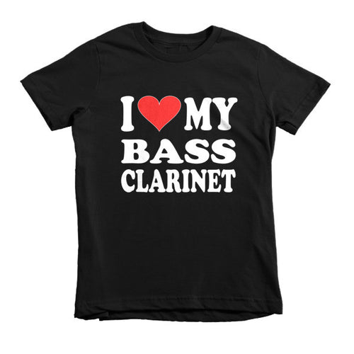 I Love My Bass Clarinet childrens t-shirt
