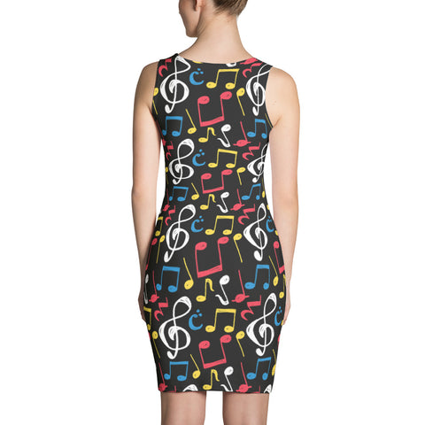 Image of Womens Music Notes  Dress