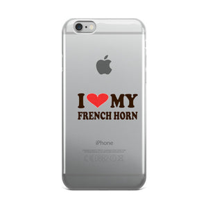I Love My French Horn, iPhone case