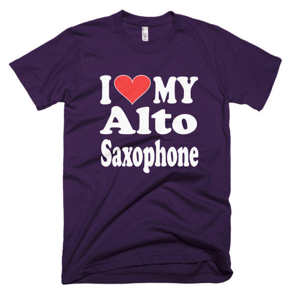 I Love My Alto Saxophone Mens t-shirt