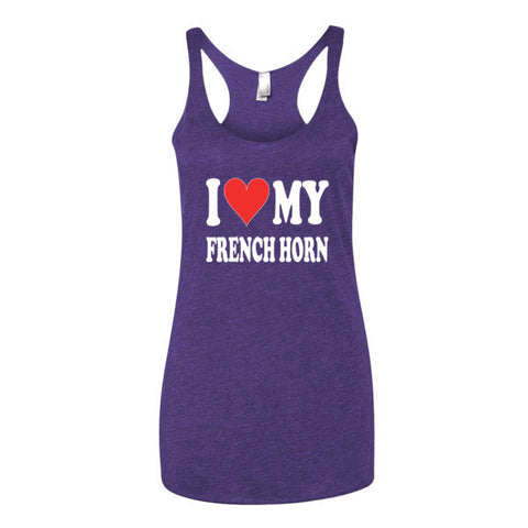 I Love My French Horn, Women's tank top