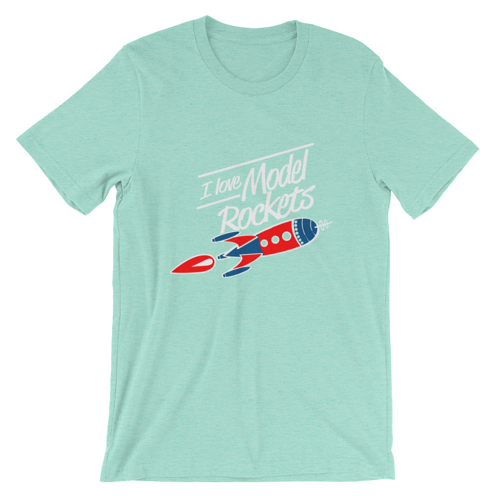 I Love Model rockets, Mens Short-Sleeve T-Shirt