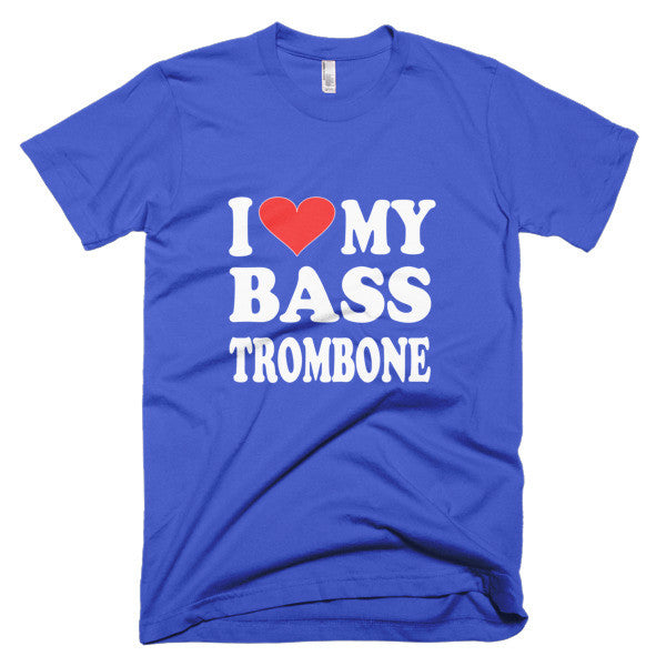 I Love My Bass Trombone men's t-shirt