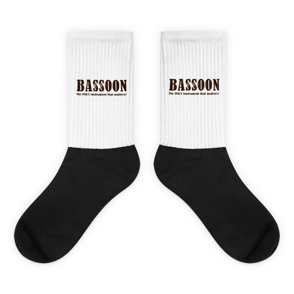 Bassoon, The Only Intrument that matters, Black foot socks