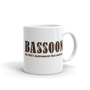 Bassoon, The Only Instrument that matters, Mug
