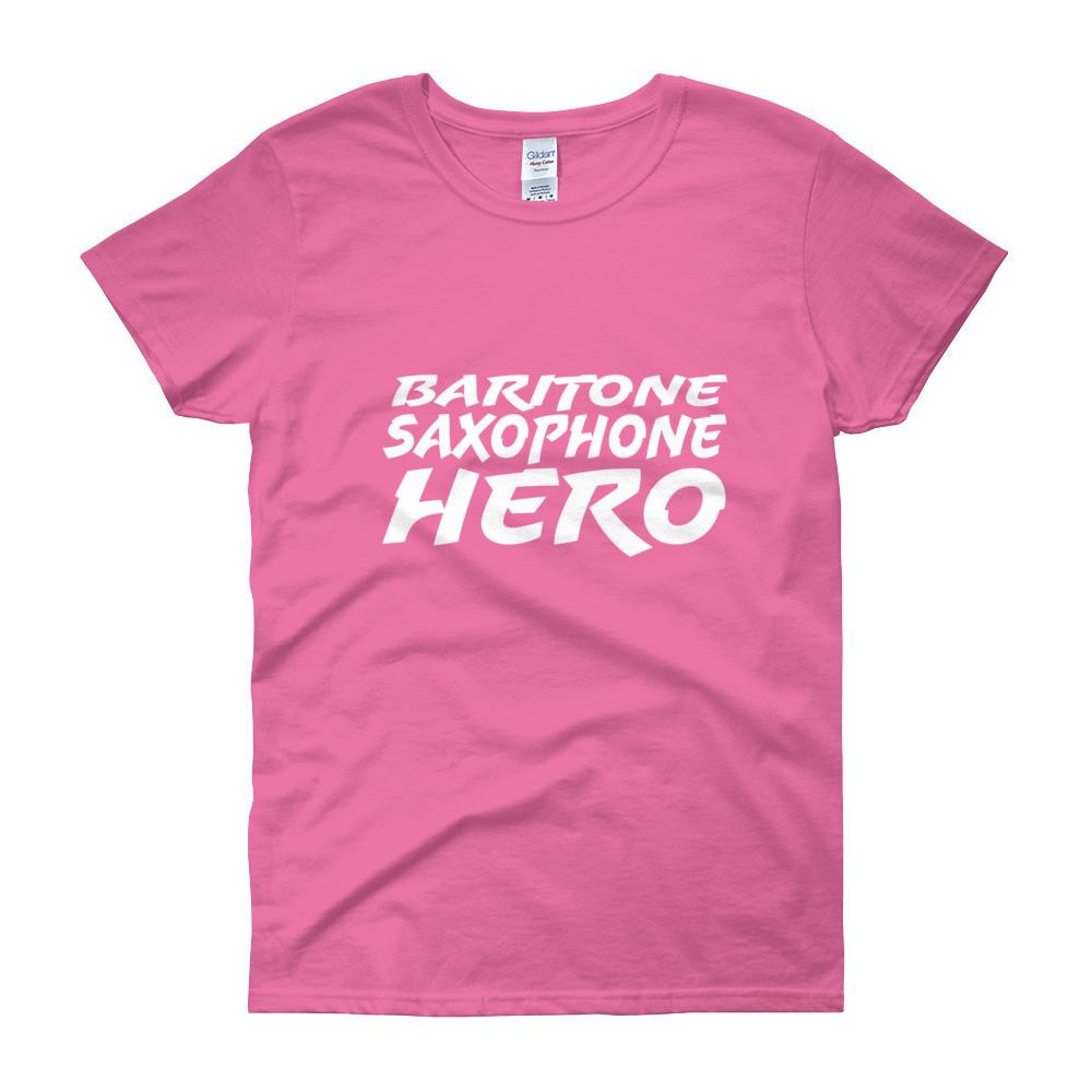 Baritone Saxophone Hero, Women's short sleeve t-shirt