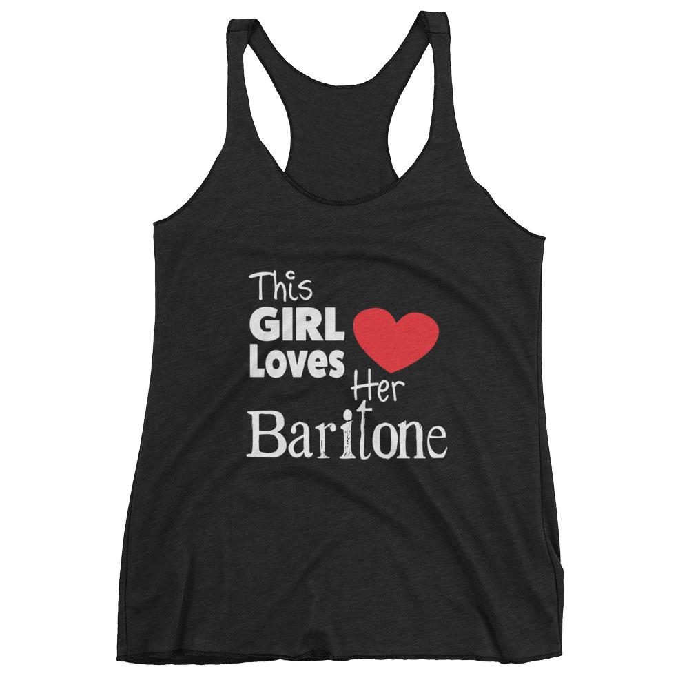 This Girl Loves Her Baritone, Women's tank top