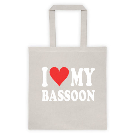 Image of I Love My Bassoon, Tote bag