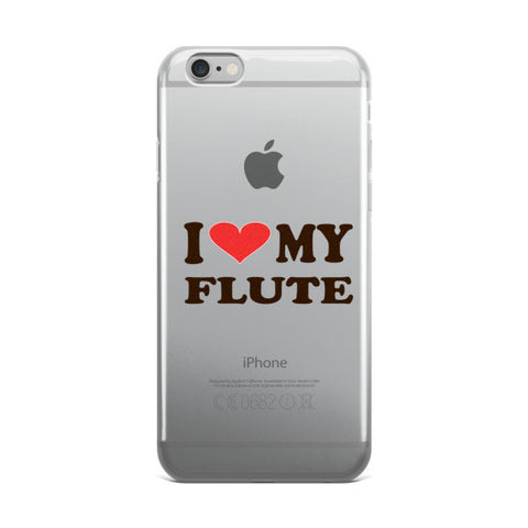 Image of I Love My Flute, iPhone case