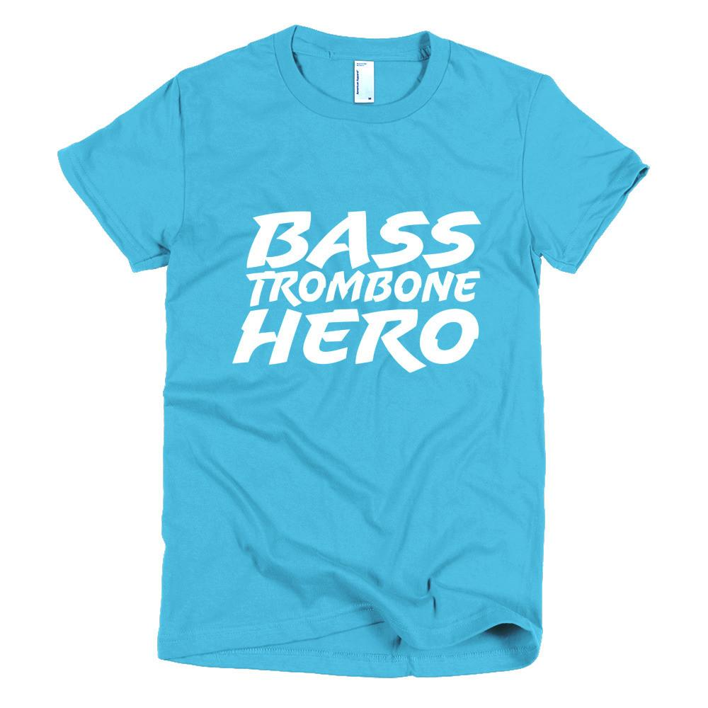 Bass Trombone Hero, Short sleeve women's t-shirt