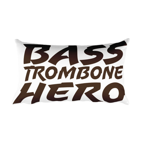 Bass TRombone Hero, Rectangular Pillow