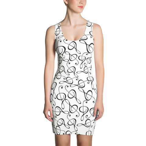 Image of Treble Clef Womens Dress