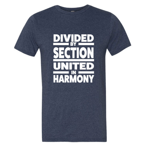 Divided by Sections, Unitedin Harmony  Men's t-shirt