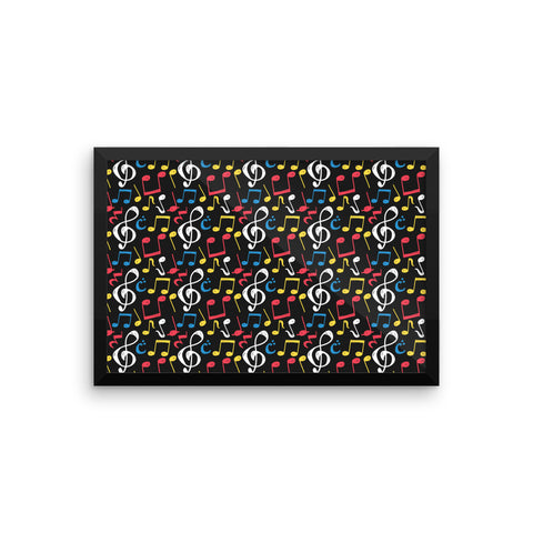 Music Note Framed photo paper poster