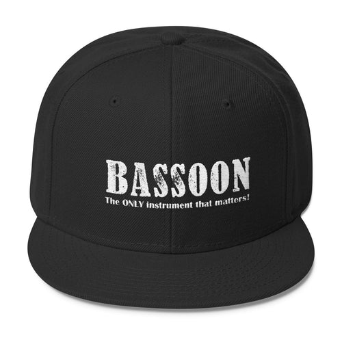Bassoon, The Only Instrument That matters, Wool Blend Snapback caps