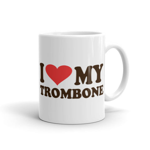 Image of I Love My Trombone, Mug