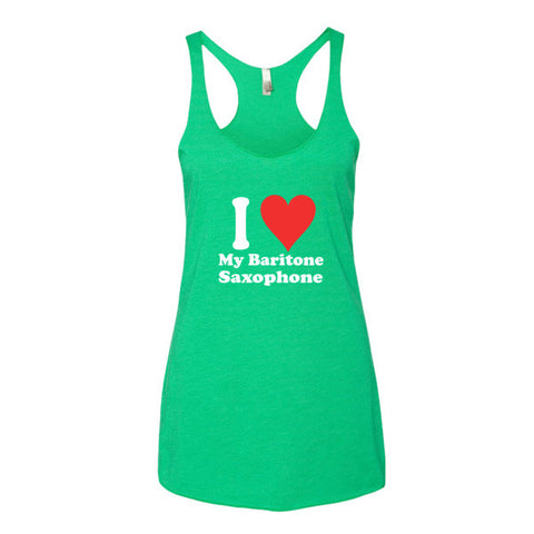 Image of I love My Baritone Saxophone, Women's tank top