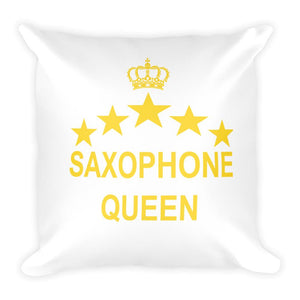 Saxophone Queen Pillow