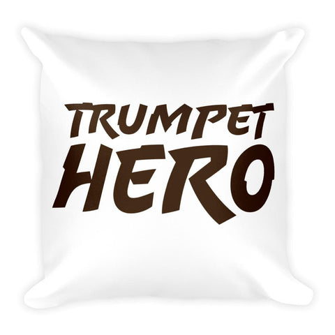Trumpet Hero, Square Pillow