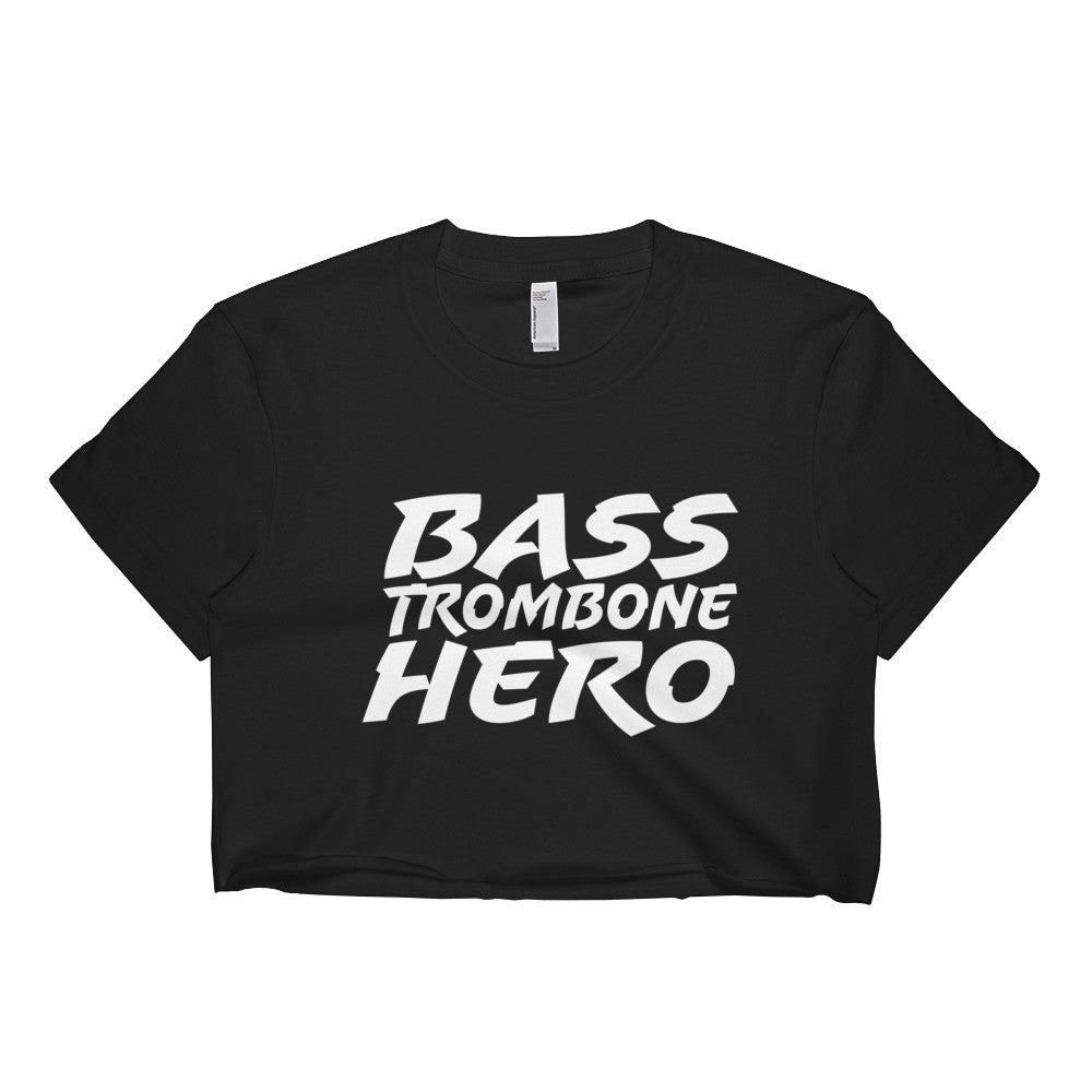 Bass Trombone Hero, Short sleeve crop top