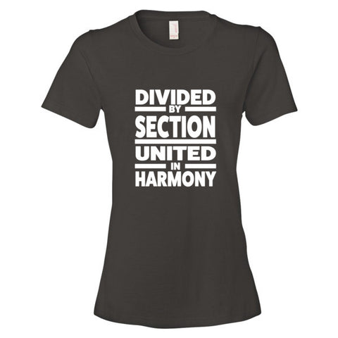 Image of Divided by Section, United in Harmony Women's  t-shirt