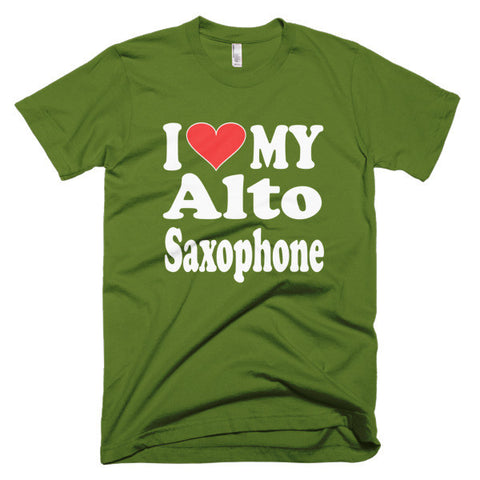 Image of I Love My Alto Saxophone Mens t-shirt