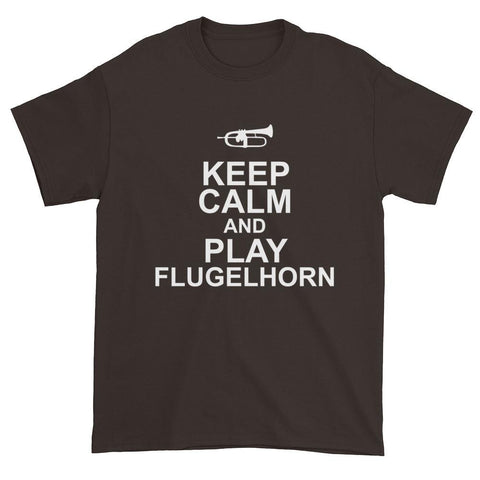 Image of Keep Calm And Play FLugelhorn, Mens Short sleeve t-shirt