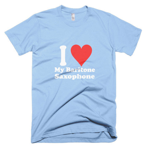 Image of I Love My Baritone Saxophone,  men's t-shirt