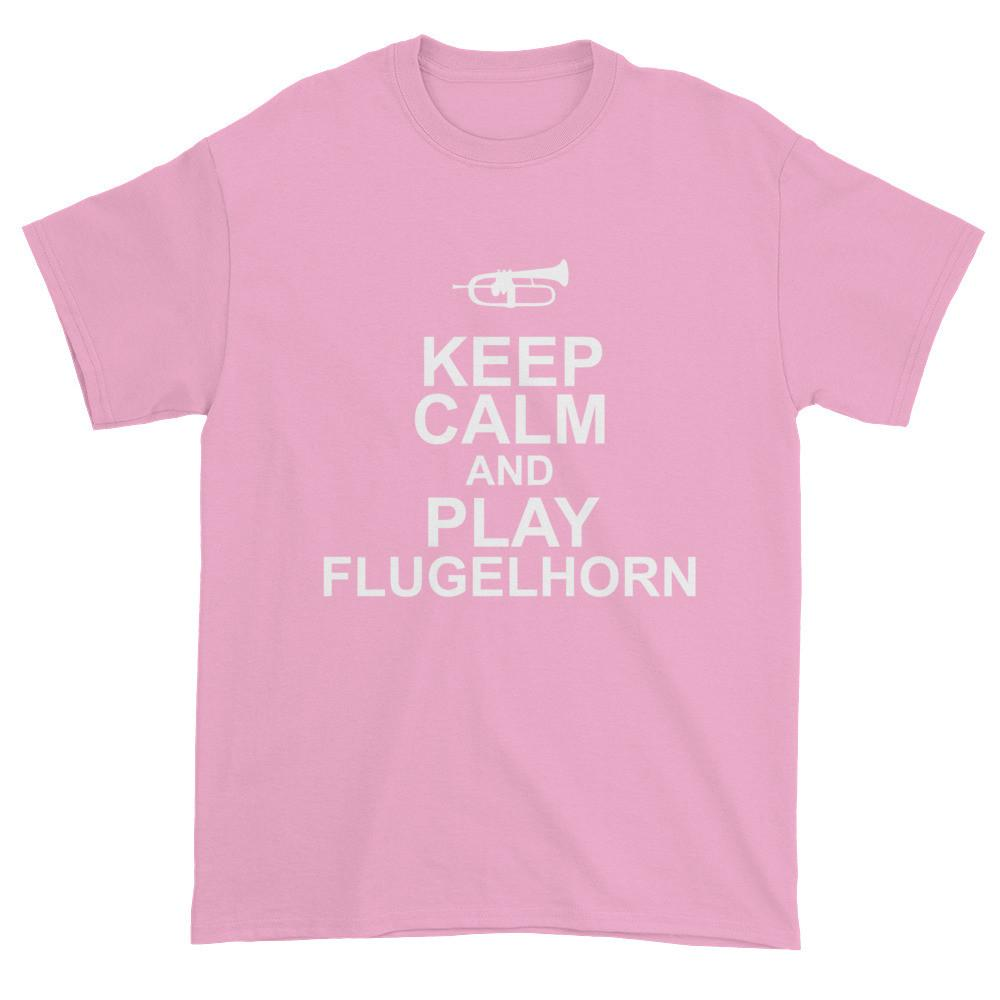 Keep Calm And Play FLugelhorn, Mens Short sleeve t-shirt